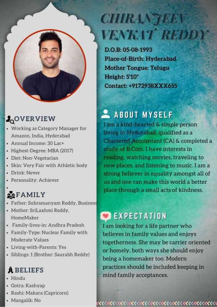 Marriage Biodata Milan