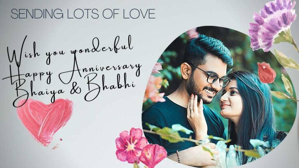 20+ Interesting happy anniversary bhaiya bhabhi Wishes, quotes & Anniversary Cards for download